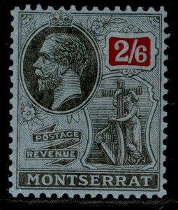 MONTSERRAT GV SG80, 2s 6d black & red/blue, M MINT. Cat £12.