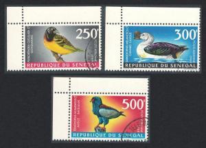 Senegal Weaver Duck Bateleur Birds 3v Corners 1968 Canc SG#379-381 SC#C55-C57