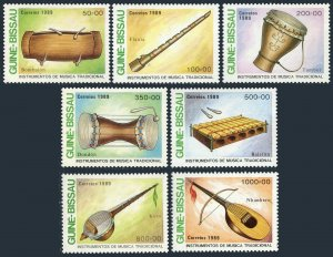 Guinea Bissau 834-840,MNH.Michel 1011-1017. Musical Instruments,1989:Bombalon,