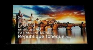 U.N. GENEVA #627, 2016, WORLD HERITAGE CZECH REPUBLIC, MNH, PRESTIGE BOOKLET