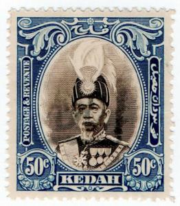 (I.B) Malaya States Revenue : Kedah Duty 50c (Japanese Occupation)