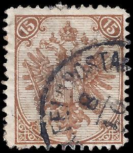 Bosnia & Herzegovina 1879 Sc 8 (type I) uvg