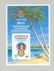 Antigua 1995 Rotary 1v Imperf S/S