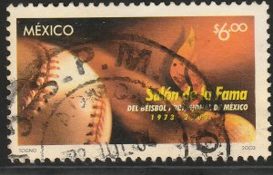 MEXICO 2318, Baseball Hall of Fame, 30th Anniversary. USED. VF. (1167)