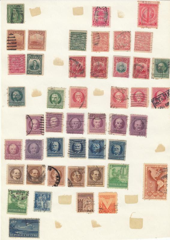 Cuba - small stamp collection - (1772)