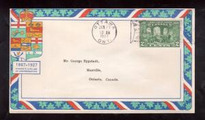 Canada #142 Very Fine Used On EPPSTADT First Day Cover - Wonderfully Colorful