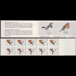 NORWAY 1982 - Scott# 801A Booklet-Birdss NH