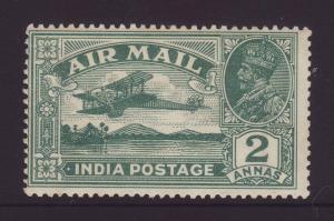 1929 India 2 Annas Airmail Mint SG220