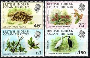 British Indian Ocean Territory #39-42 MNH  CV $22.75 (V6222)
