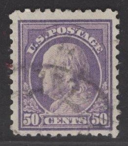 US Stamp #477 50c Light Violet Franklin USED SCV $80.00
