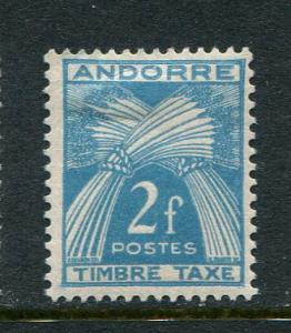 French Andorra #J34 Mint