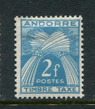 French Andorra #J34 Mint
