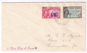 CAYMAN ISLANDS - FDC - QEII - 1953