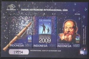 Indonesia. 2009. bl250. Astronomy, Galileo. MNH.