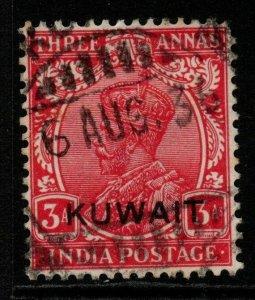 KUWAIT SG21 1929 3a CARMINE USED
