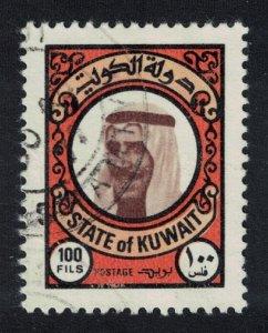 Kuwait Sheikh Sabah 100 fils 1977 Canc SC#727 SG#746