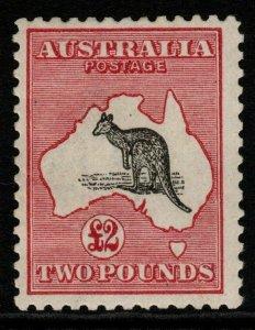 AUSTRALIA SG45 1919 £2 BLACK & ROSE MTD MINT