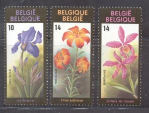 Belgium Sc 1333-5 1990 Ghent Flower Festival stamp set mi...