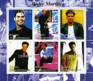 Turkmenistan 2000 Ricky Martin Sheet Perforated  mnh.vf