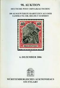 GERMANY POST IN CHINA 2006 WURTTEMBERGISCHES AUCTION CATALOG 100 LOTS REFERENCE