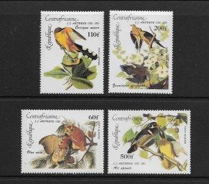 BIRDS - CENTRAL AFRICAN REPUBLIC #C311-14  MNH