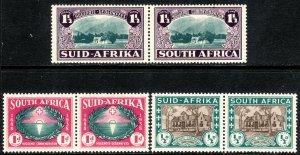 1939 South Africa semi postal complete set Sc# B9 / B11 MNH CV $53.50
