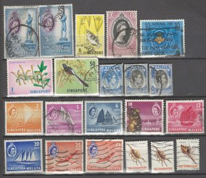 COLLECTION LOT # 2893 SINGAPORE 21 STAMPS 1949+ CLEARANCE CV+$13