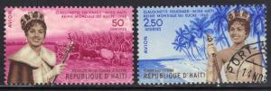 HAITI SC# C161-62 **CTO HINGED** 1960 MISS FOUCHARD SEE SCAN