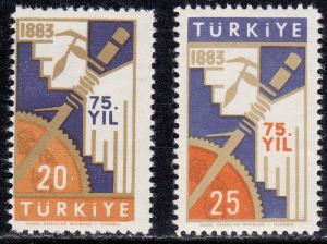 Turkey # 1288-1289, College of Economics, Mint NH
