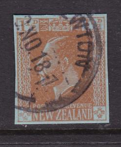 New Zealand 1918 George V 1.5d Stationary cutout VFU VGC