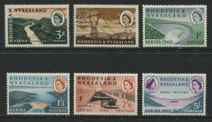 Rhodesia QEII 1960 Kariba Dam set unmounted mint NH
