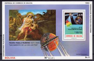 Bolivia 1992 Sc#805 Space MIlky Way Creation/Rubens Souvenir Sheet MNH