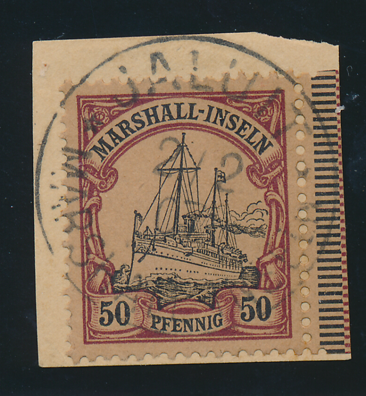 Marshall Islands Stamp Scott #20, Used, On Paper, Town/Date Cancel - Free U.S...
