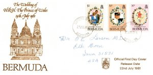 Bermuda, Royalty, Worldwide First Day Cover