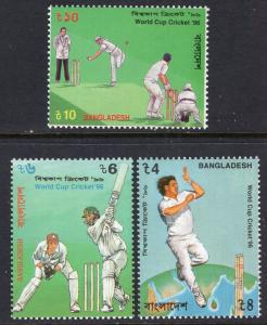 Bangladesh 511-513 Cricket MNH VF