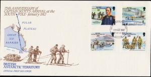 British Antarctic Territory Scott 137-140 Unaddressed.