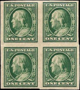 343 Mint,OG,H/NH... Block of 4... SCV $27.00