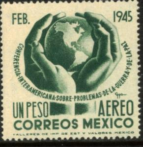 MEXICO C144, $1P Conference on War & Peace. Mint, NH. F-VF.