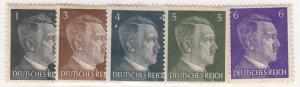 Germany, Scott #506-510, Used & MH