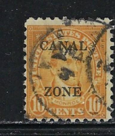 Canal Zone 87 Used 1925 Overprint of U.S. stamp