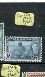 SARAWAK  (P2204B)  KGVI 15C  SG 179    MOG