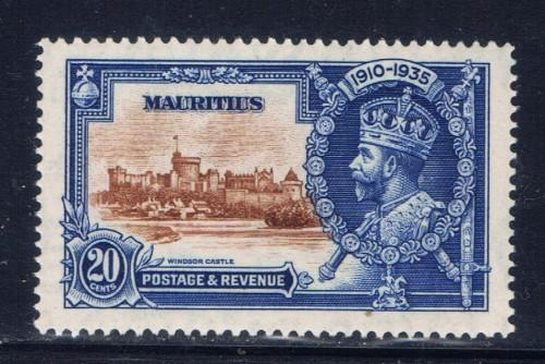 Mauritius 206 Hinged KGV Silver Jubilee