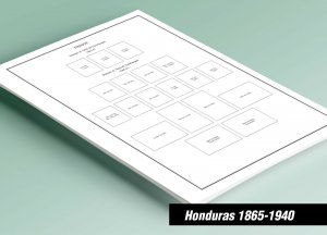 PRINTED HONDURAS [CLASS.] 1865-1940 STAMP ALBUM PAGES (48 pages)