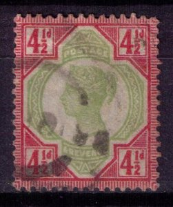 Great Britain Sc #117 4-1/2p Carmine Rose & Green Very Fine Cat $42.00
