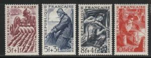 France, 1949 MH  Set Of 4 Semi-Postals,  #B233-B236