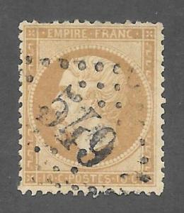 France Scott 25 Used 10c Emperor Napoleon stamp 2015 CV $4.25