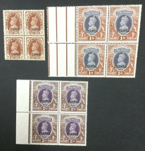 MOMEN: INDIA CHAMBA SG #100,102-103 BLOCKS MINT OG NH #193643-2350
