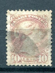 Canada #40a pale magenta  used well centered - Lakeshore Philateics