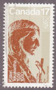 Canada 885 USED 1981 Kateri Tekakwitha 17¢