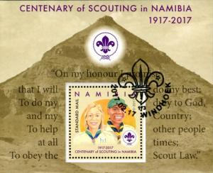 Namibia - 2017 Centenary of Scouting in Namibia MS Used